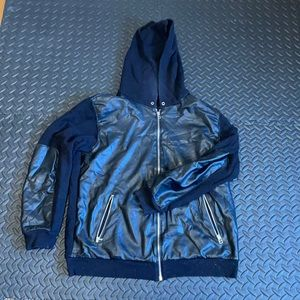 Wilfred free faux leather hoodie